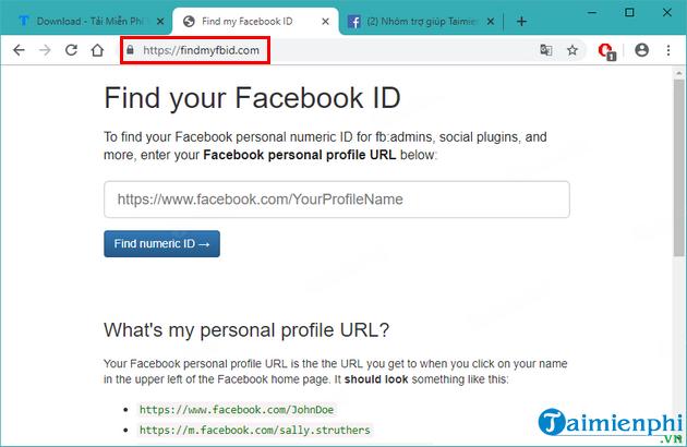 Cách xem ID Facebook của nhóm, Group