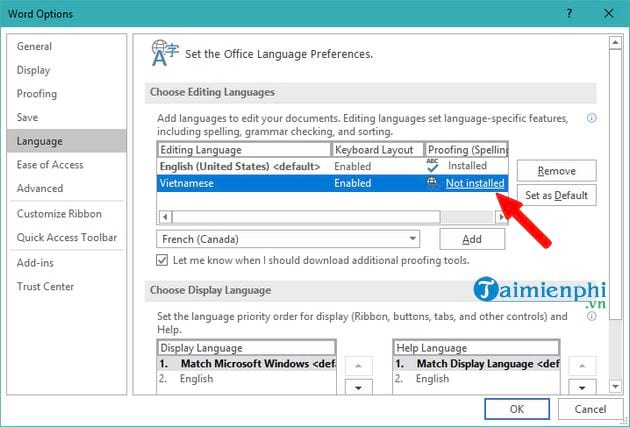 Proofing Tools Office 2019