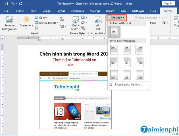 cach chen hinh anh trong word 2019 5