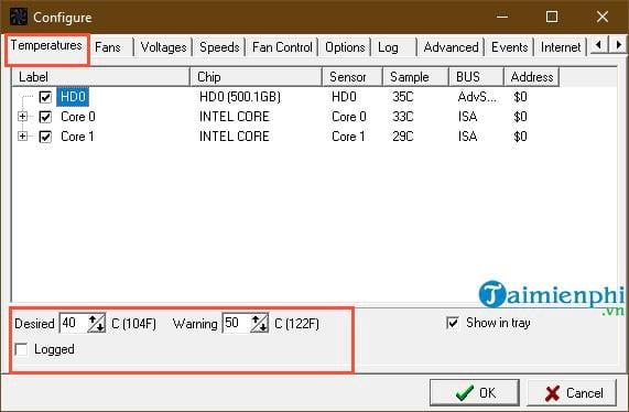 Hướng dẫn sử dụng SpeedFan kiểm tra nhiệt độ CPU, tốc độ quạt máy tính 11