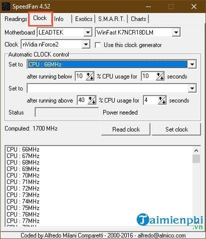 Hướng dẫn sử dụng SpeedFan kiểm tra nhiệt độ CPU, tốc độ quạt máy tính 4