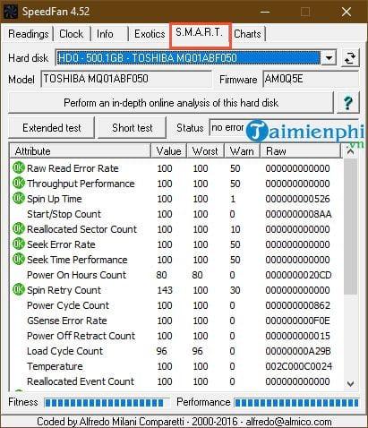 Hướng dẫn sử dụng SpeedFan kiểm tra nhiệt độ CPU, tốc độ quạt máy tính 7