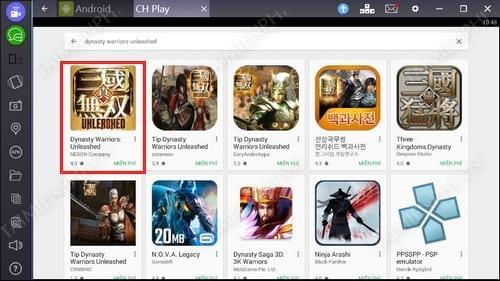 Cách chơi Dynasty Warriors Unleashed trên PC, Laptop bằng Bluestacks 2