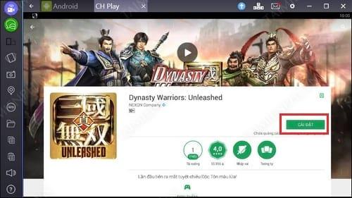 Cách chơi Dynasty Warriors Unleashed trên PC, Laptop bằng Bluestacks 3