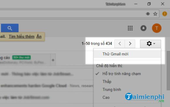 cach cap nhat gmail moi