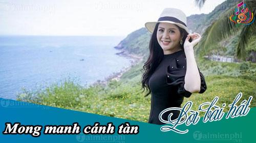 loi bai hat mong manh canh tan
