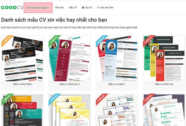 website thiet ke cv xin viec goodcv