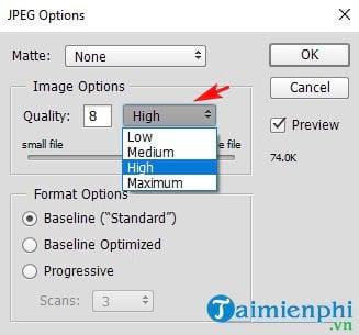 Cách tạo ảnh PNG, JPG bằng Photoshop