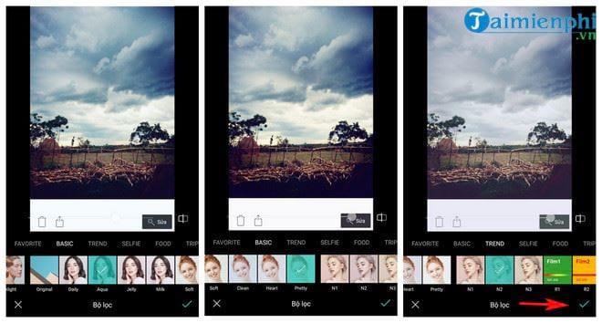 Cách thêm hiệu ứng bầu trời đẹp cho ảnh với ứng dụng B612