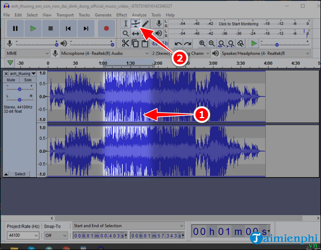 Download and set up audacity