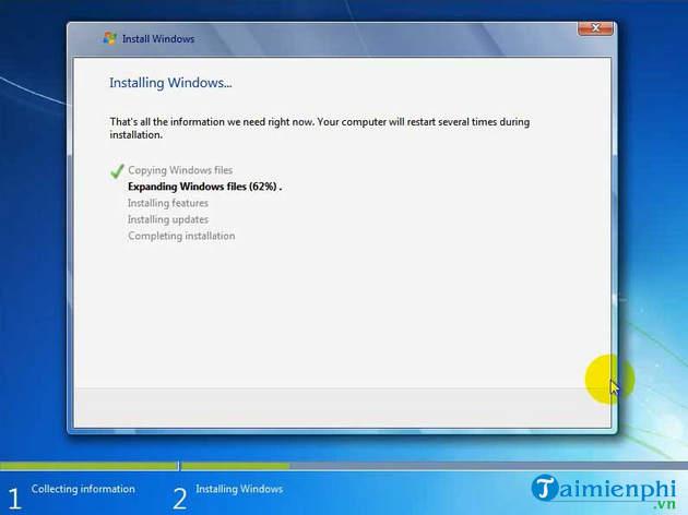 Cách cài Windows 7 bằng usb, tạo usb cài Win 7 24
