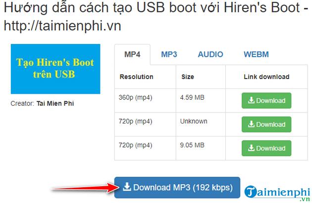 Hướng dẫn tải nhạc mp3 từ Youtube cực nhanh với x2convert 12