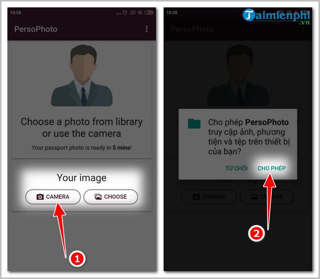 Cách chụp ảnh thẻ bằng điện thoại iPhone, Android