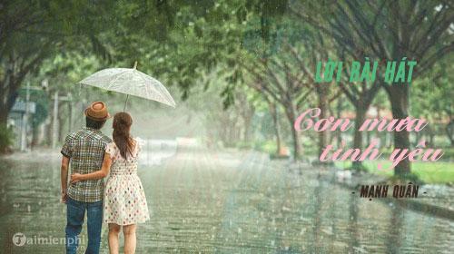 Tải bài hát cơn mưa tình yêu
