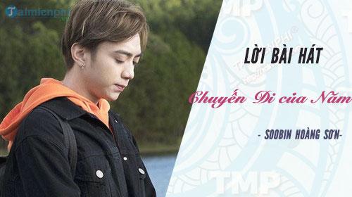 Lời bài hát Chuyến Đi của Năm (Đi để trở về 2) Soobin Hoàng Sơn
