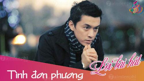loi bai hat tinh don phuong