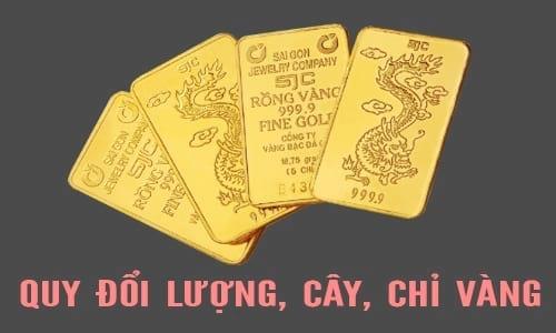 Cách đổi 1 Lượng vàng, cây vàng bằng bao nhiêu chỉ vàng 2