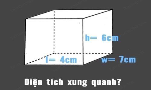 Cách tính thể tích hình hộp chữ nhật, diện tích toàn phần Hình hộp, công thức tính