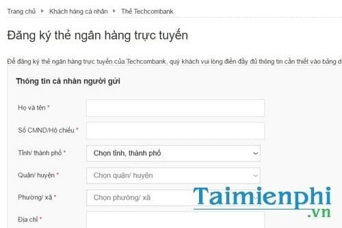 cach lam the visa techcombank the tin dung techcombank 4