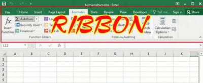 cach thiet lap ribbon trong excel 2016