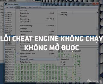 loi cheat engine khong chay khong mo duoc