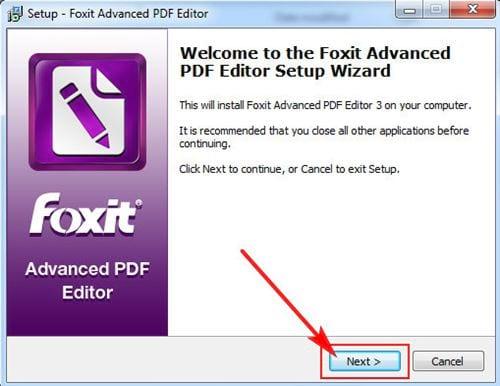Cách cài đặt Foxit PDF Editor 2