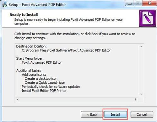 Cách cài đặt Foxit PDF Editor 7
