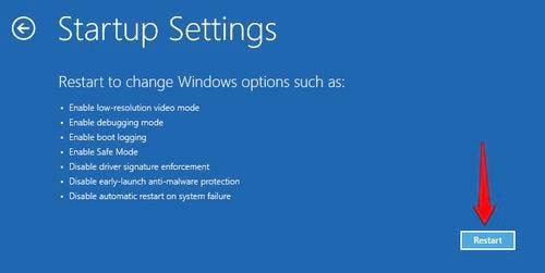 Cách vào Safe mode Windows 10 trong khi Boot vào Windows lỗi 5