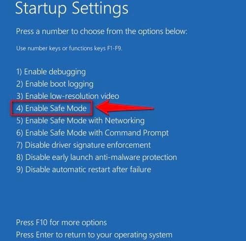 Cách vào Safe mode Windows 10 trong khi Boot vào Windows lỗi 6