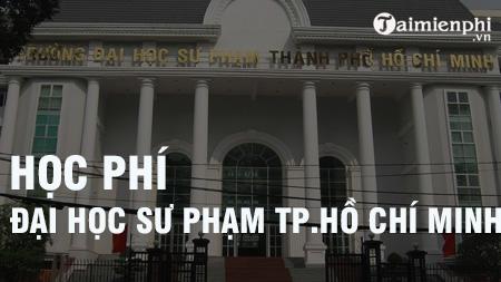hoc phi dai hoc su pham tphcm