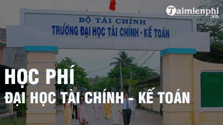 hoc phi dai hoc tai chinh ke toan