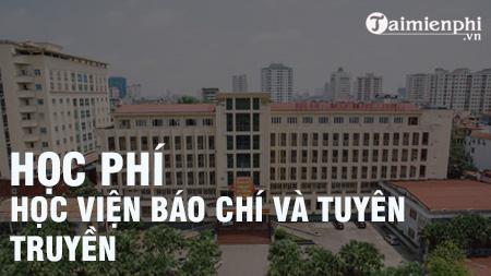 hoc phi hoc vien bao chi va tuyen truyen 2017 2018