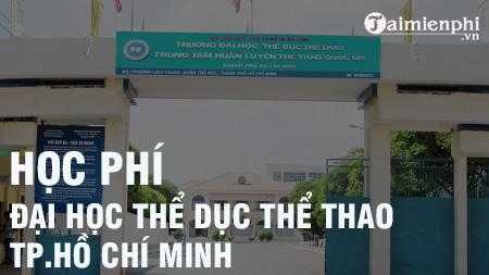 hoc phi truong dai hoc the duc the thao tphcm