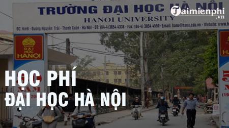 Học phí Đại học Hà Nội năm học 2020 - 2021