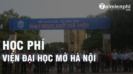 Học phí Viện Đại học Mở Hà Nội năm 2020-2021