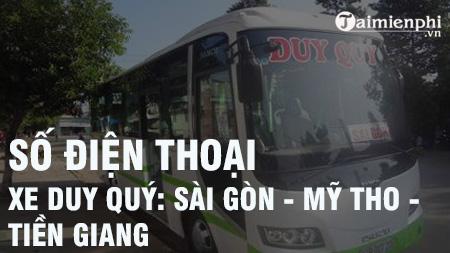 Số điện thoại xe Duy Quý: Sài Gòn - Mỹ Tho - Tiền Giang