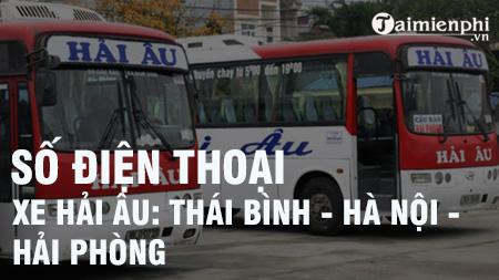 so dien thoai xe khach hai au thai binh ha noi hai phong