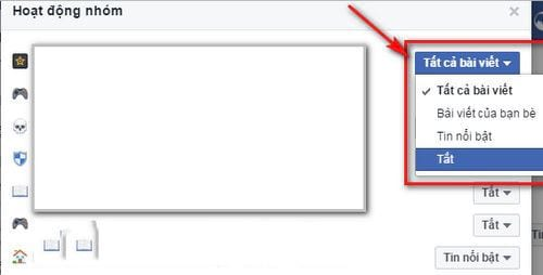 Cách tắt thông báo nhóm trên Facebook mỗi khi có Like, Comments mới