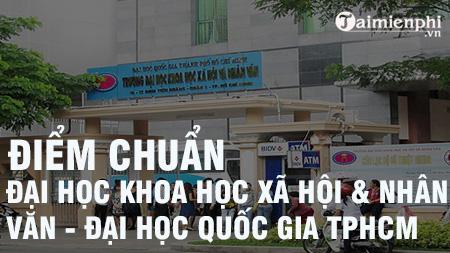 diem chuan dai hoc khoa hoc xa hoi va nhan van dai hoc quoc gia tphcm