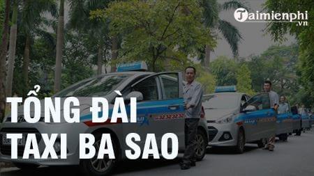tong dai taxi ba sao sdt hotline