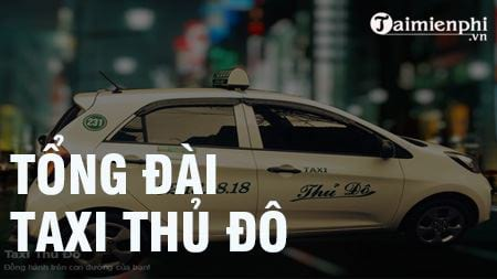 tong dai taxi thu do sdt hotline