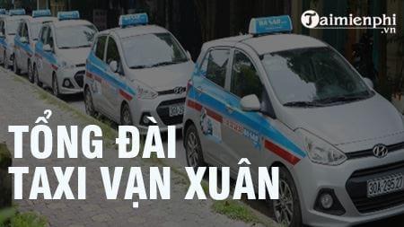 Tổng đài Taxi Vạn Xuân, SĐT hotline, 024 38.222.888