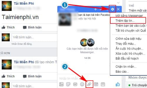 Cách gửi file Word, Excel, PDF qua Facebook 2