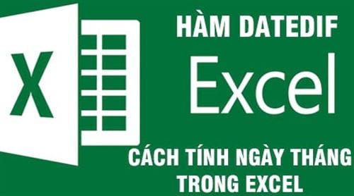 cach tinh ngay thang nam trong excel