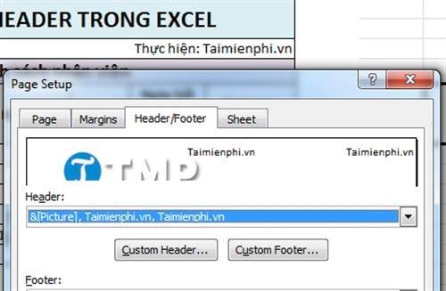 Cách tạo header trong Excel, tạo tiêu đề trang Excel 2016