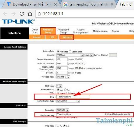 Cách đổi tên WiFi TPLink Tenda