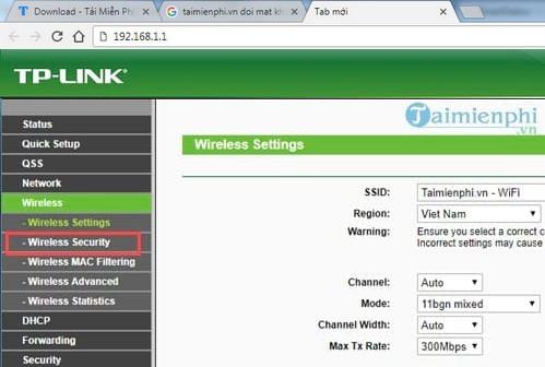 Cách đổi mật khẩu Wifi TP-LINK TL-WR940N(v3.0) 450mpbs