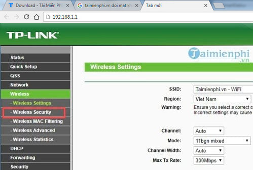 Đổi mật khẩu Wifi TP-LINK TL-WR940N(v3 0) 450mpbs, thay pass Wifi TL-W