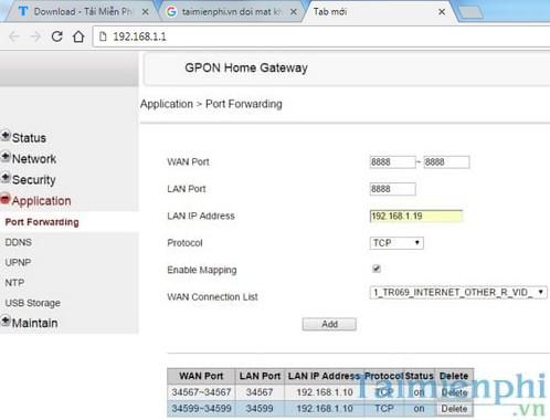 Cách NAT Port, Forward port với các modem phổ biến, Viettel, FPT