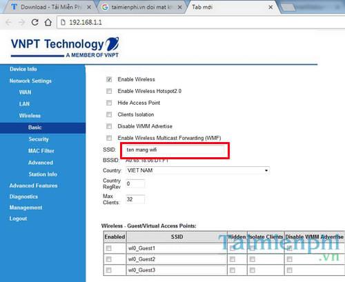 User/Password đăng nhập modem iGate GW040 GPON ONT của VNPT đổi pass wifi 4